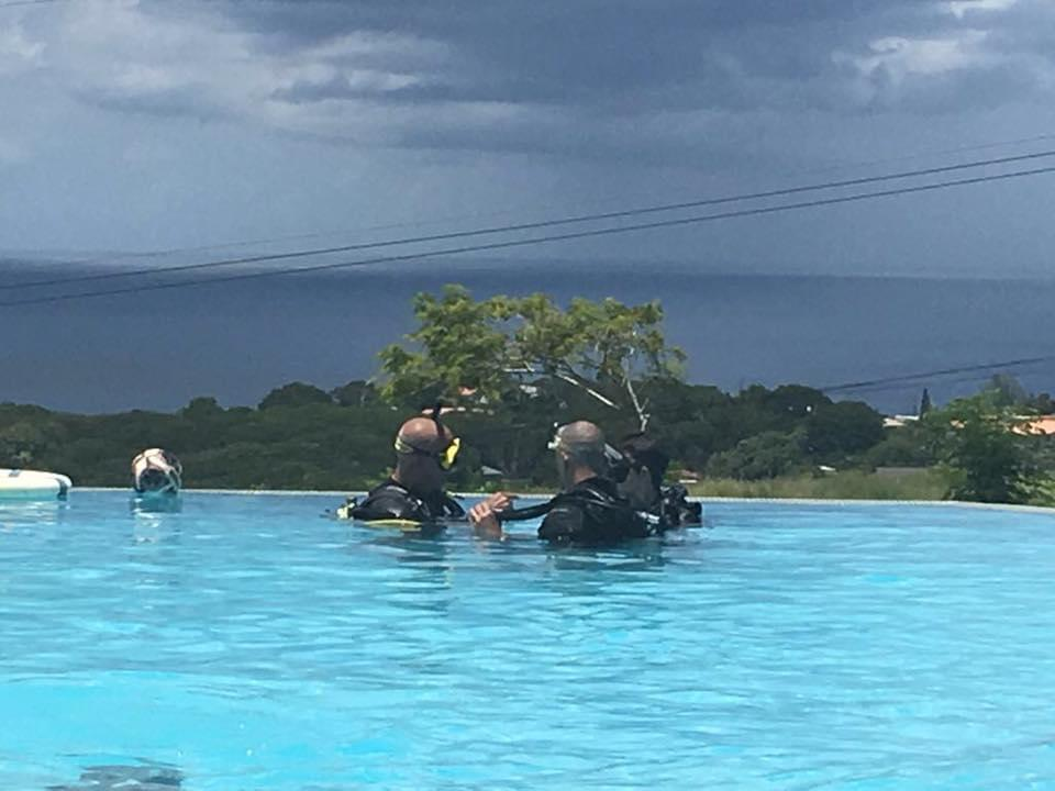 zwembad diving